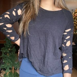 Laced Sleeve Top | American Eagle